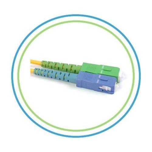 3M // 9.84ft Simplex Single Mode Fiber Optic Patch Cable FiberShack SC//APC to SC//APC