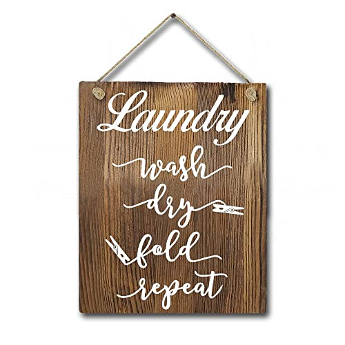 Buy Funny Laundry Rules Wash Dry Fold Repeat Quotes Farmhouse Wood Wall Decor Laundry Room Rustic Wall Hanging Art Sign Online In South Korea B07ry5wp72