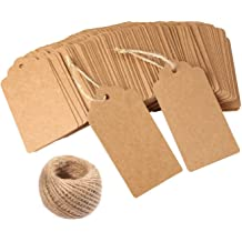 YEJI 200Pcs Kraft Paper Gift Tags for Christmas Presents Wedding Party Favors